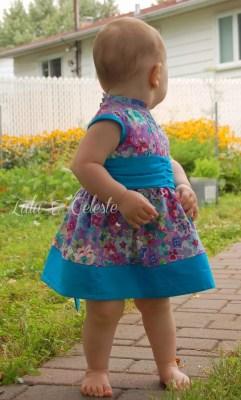 Cherry Blossom Dress sewn by Lulu & Celeste