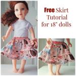 Doll Skirt Tutorial on FleeceFun.com