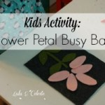 A Busy Bag Blog Hop: Flower Petal Counting Activity