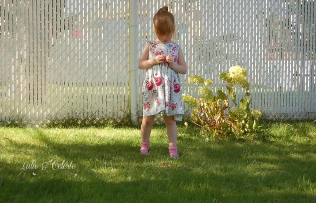 Secret Garden dress sewn by Lulu&Celeste