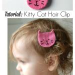 Guest Posting at Rebel & Malice: Kitty Cat Hair Clip
