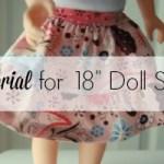 Tutorial: Tiered ruffle doll skirt