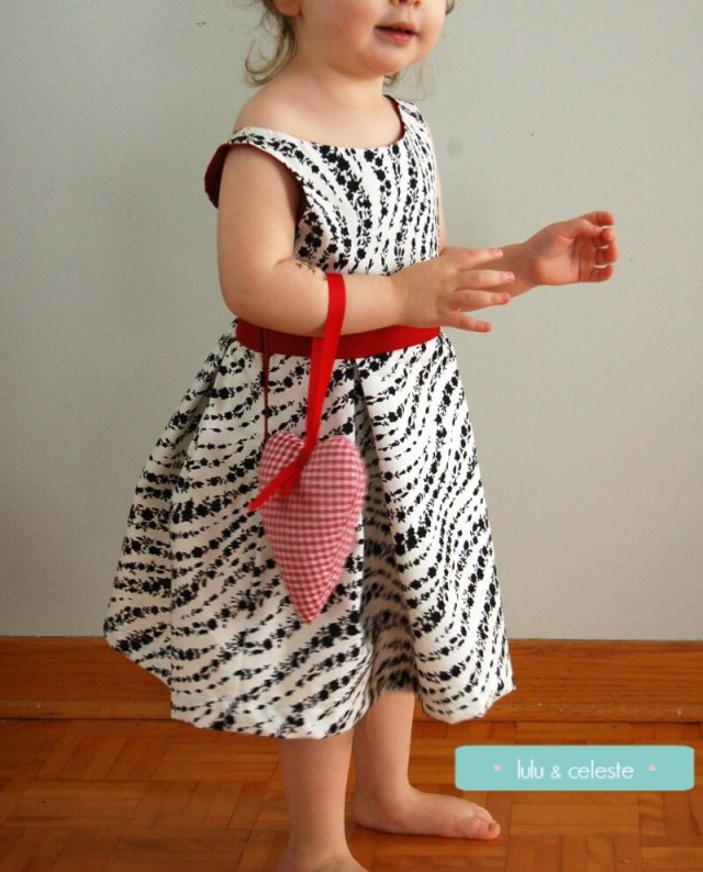 Bateau Garden Dress pattern sewn by Lulu & Celeste