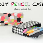 DIY Pencil Box using cereal box