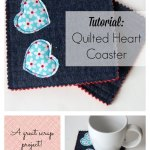 Tutorial: Quilted Heart Coaster