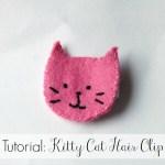 Tutorial: Kitty Cat Hair Clip