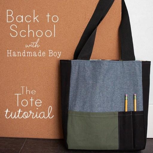 Handmade Boy tote tutorial