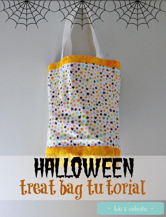 Easy Halloween treat bag tutorial