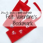 Felt Valentine's Bookmark