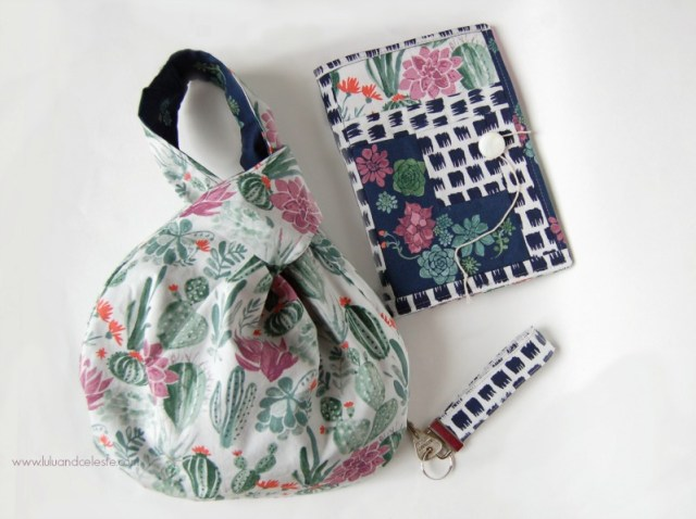Bag and Notebook with monaluna fabrics