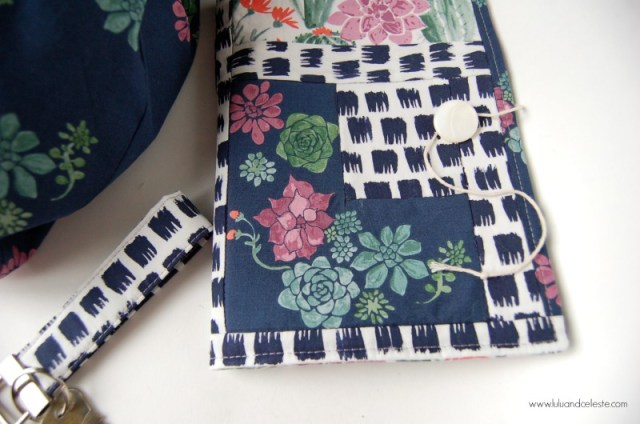 Notebook with monaluna fabrics