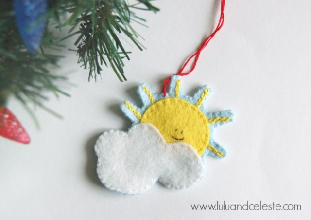 Sun and Cloud ornament tutorial by Lulu and Celeste