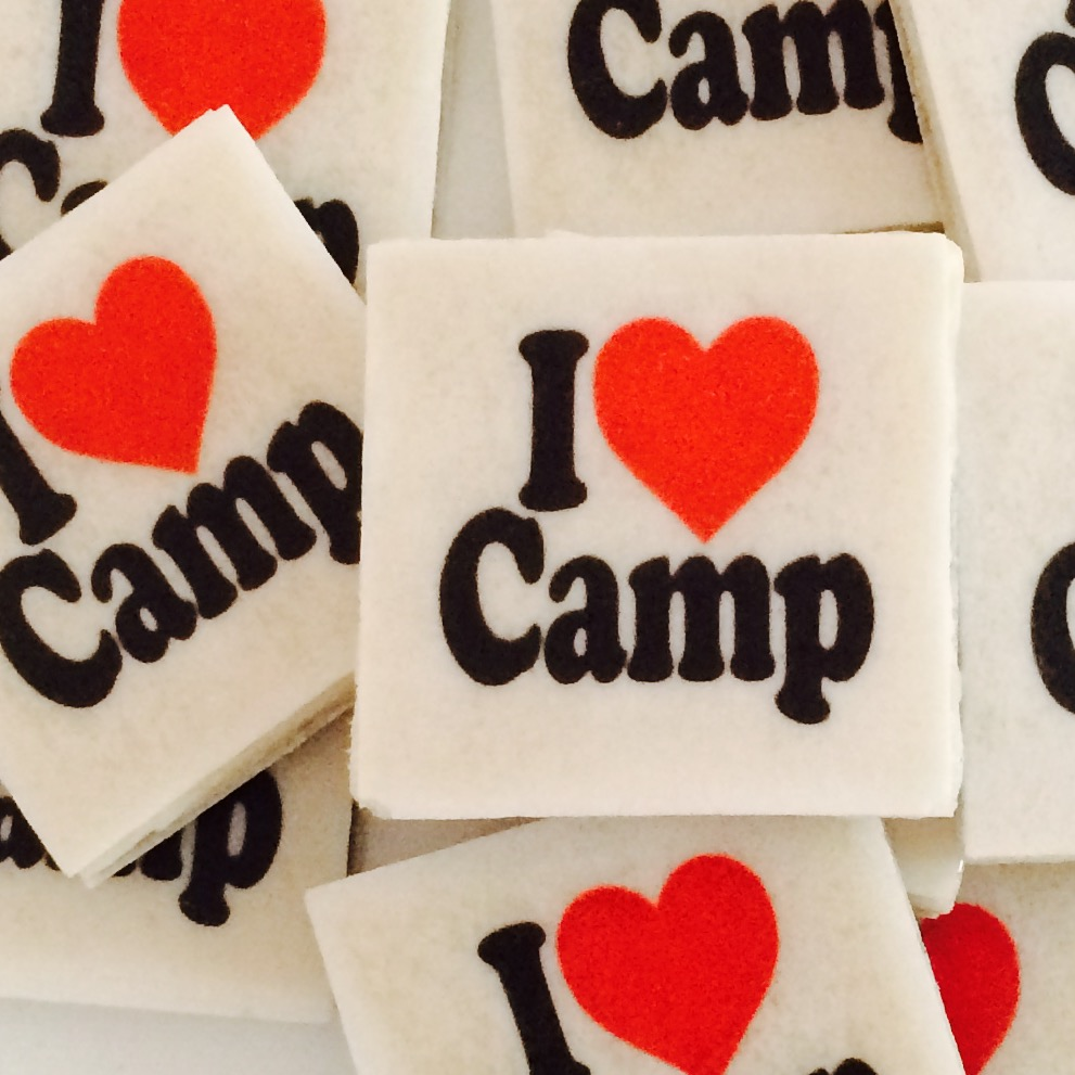 I Heart Camp StickerGum
