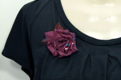 Upcycled Necktie Brooch