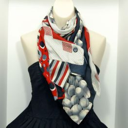 Upcycled Long Necktie Scarf