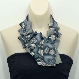 Upcycled Ruffle Necktie Scarf