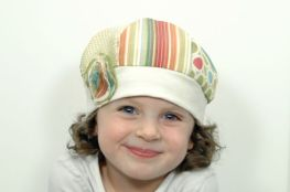 Upcycled Girl Fabric Sample Hat