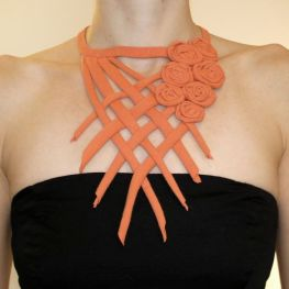 Upcycled Criss-Cross T-Shirt Necklace