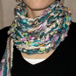 Upcycled Texturized Scarf