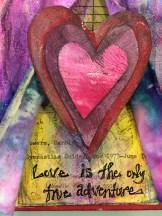 """Love Adventure"" Mixed Media Altered Art by Lulu Bea"