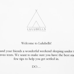 Lulubells welcome note