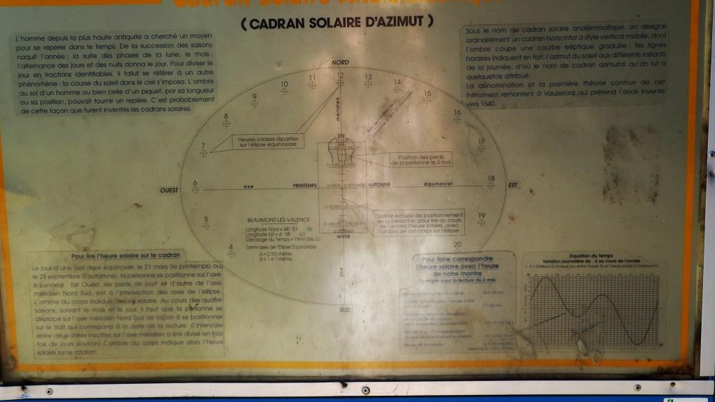 Sentier de la Découverte - Cadran solaire