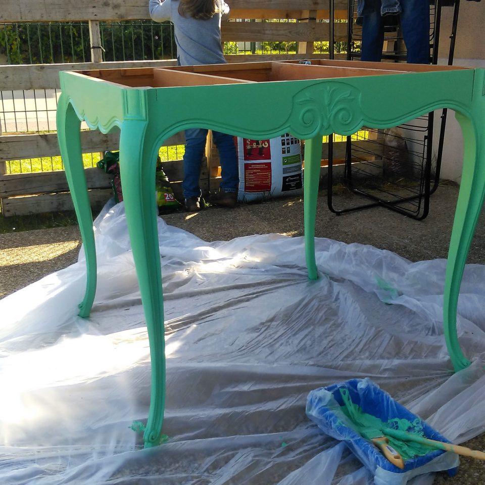 Table - peinture finie