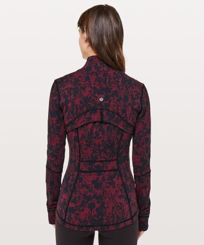 Define Jacket in Scatter Blossom Jacquard Garnet Black Back