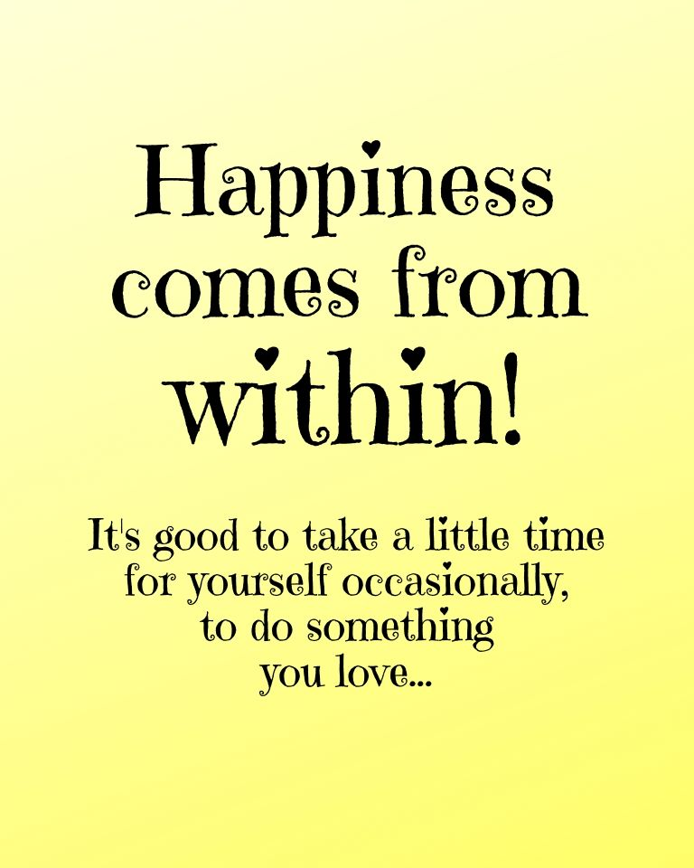 """Inspirational quote """"Happiness Comes from Within"""" printable"""