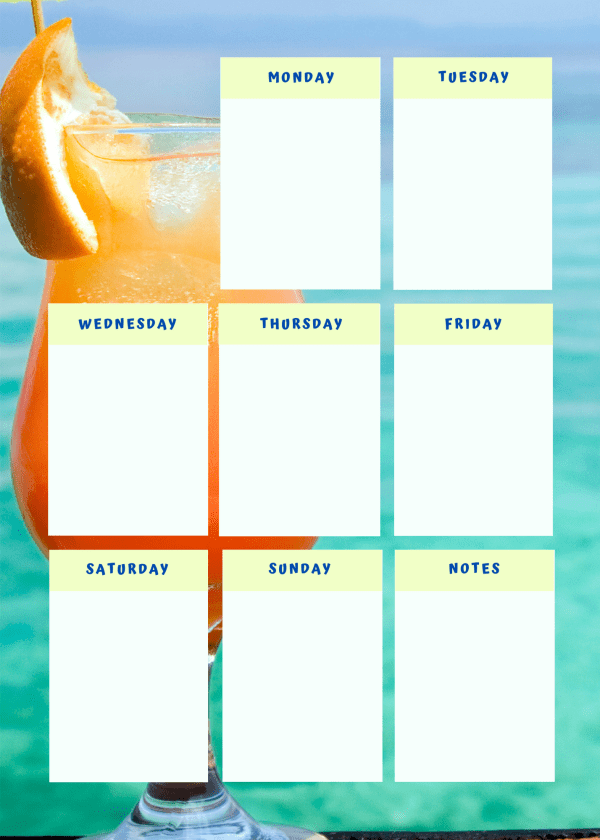 Cocktail Time Colorful Printable