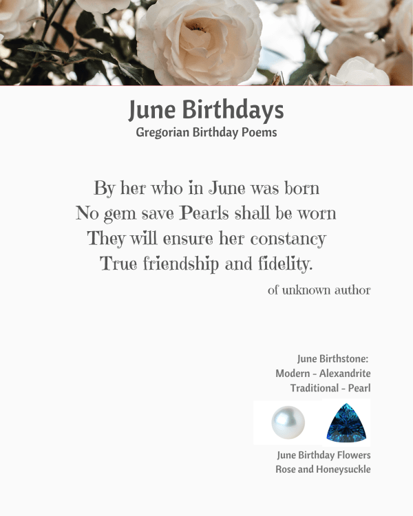 June Birthday Poem