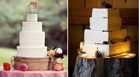 красиве необычные свадебные торты