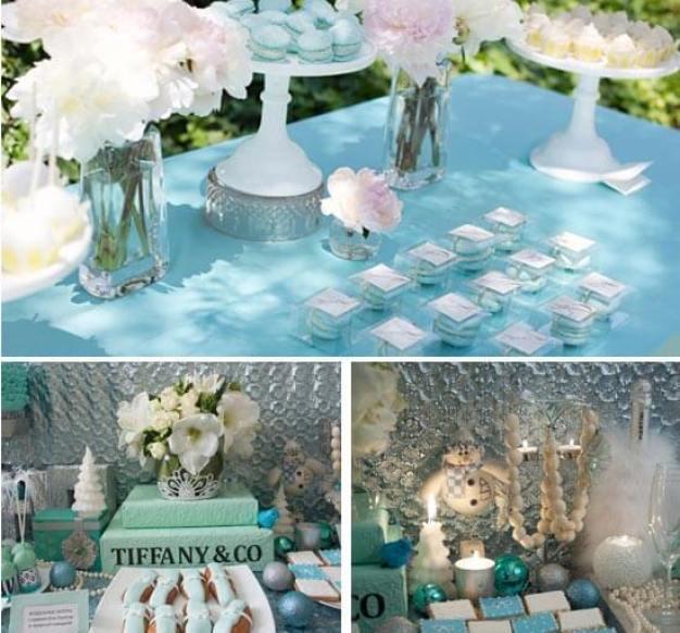 свадебный стол в стиле тиффани