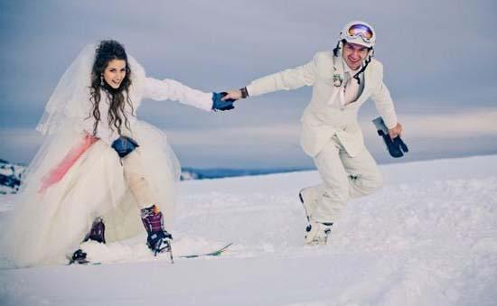свадьба зимой идеи
