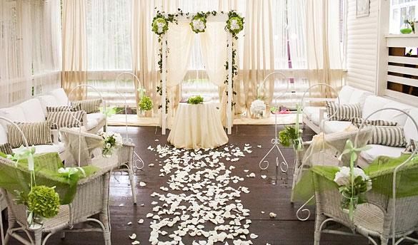 Декор свадьбы в ресторане