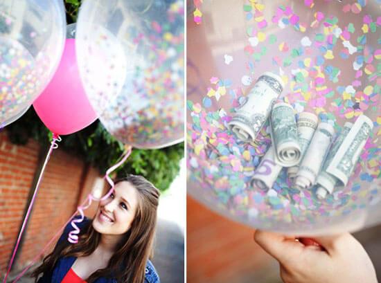 Деньги на свадьбу в шариках
