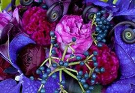 Синий свадебный букет - символ верности, стабильности и вечной любви
