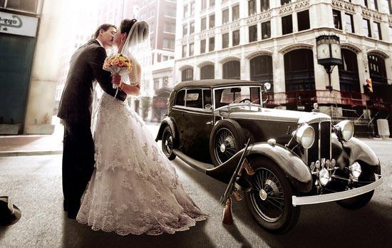 Свадебное авто в ретро стиле чикаго