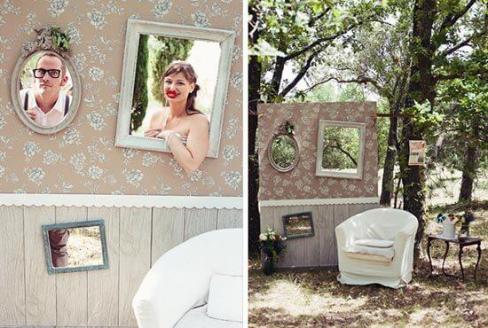 Свадебный бутафорный театр на природе