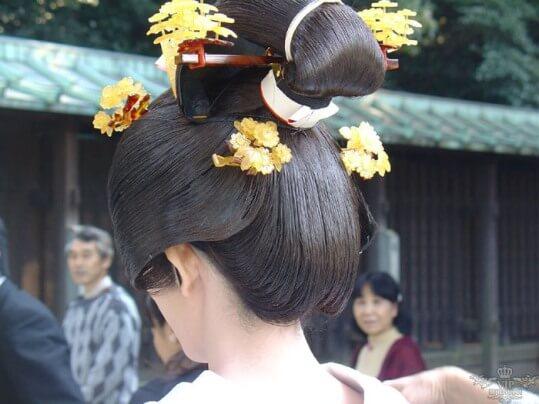 японская прическа