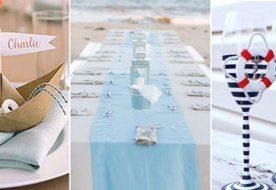 Декор свадебного стола в морском стиле: наглядные примеры в ярких фото!
