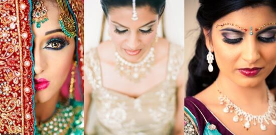 Свадебный макияж индийской невесты