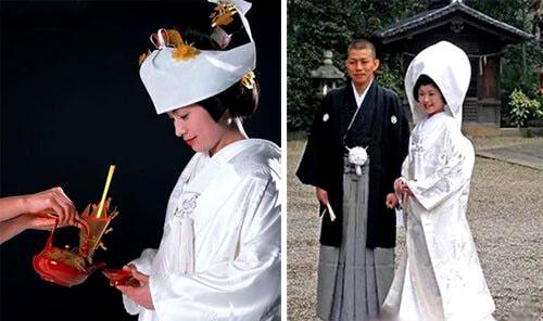 белое кимоно невесты