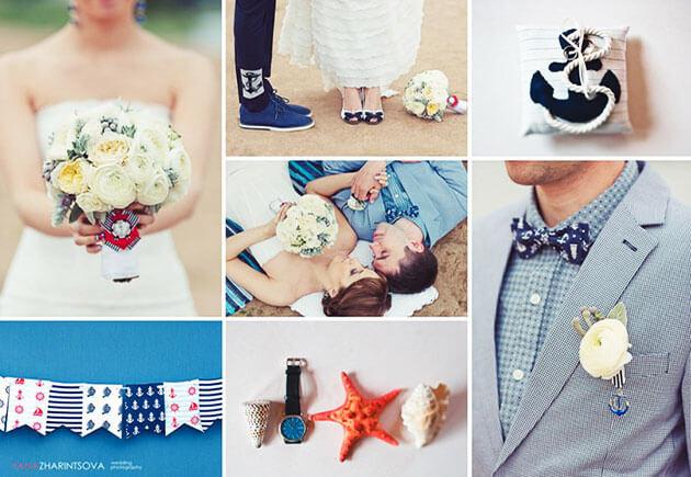 Как одеться на свадьбу в морском стиле?