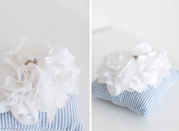 Подушка для колец на свадьбу в морском стиле