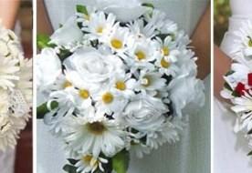 Свадебный букет из ромашек: простота и изысканность в образе невесты