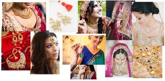 Свадебные украшщения индийской невесты