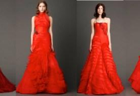 Красное свадебное платье от Веры Вонг: смелая альтернатива белому!