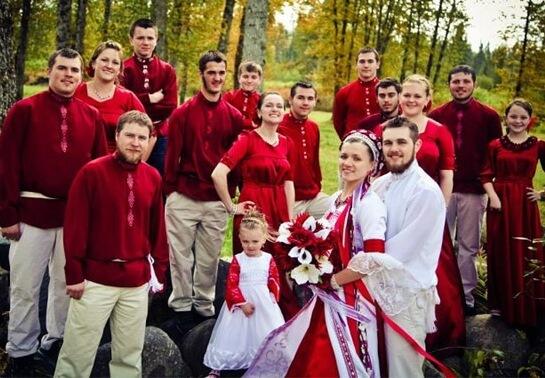 Свадьба в русском ретро стиле