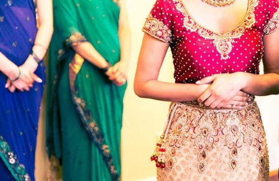 Невеста в индийском сари